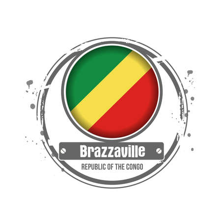 stamp Brazzaville Stock Vector - 17280756