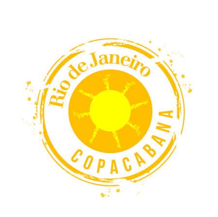 stamp Rio de janeiro Vector