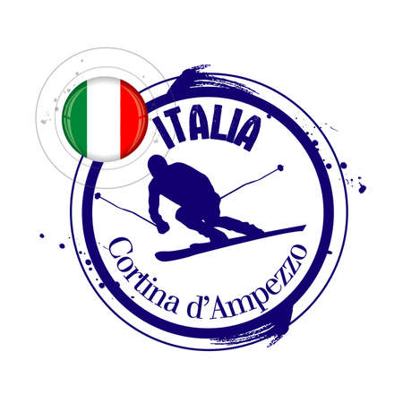 stamp Cortina d Ampezzo Stock Vector - 17280780
