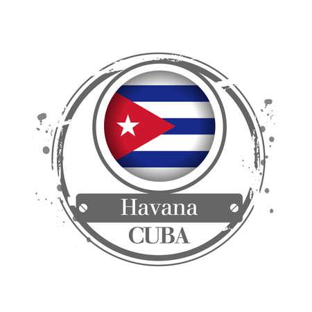 havana: stamp Havana Illustration
