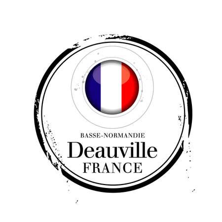 tampon: stamp Deauville Illustration
