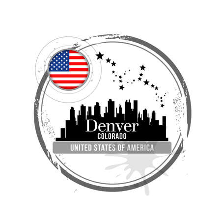 stamp Denver Stock Vector - 17280695