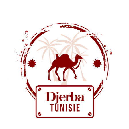 stamp Djerba Stock Vector - 17280688