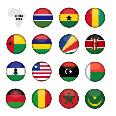flags Africa Stock Vector - 17280836