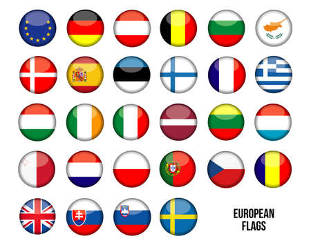italien flagge: Flags Europe Illustration