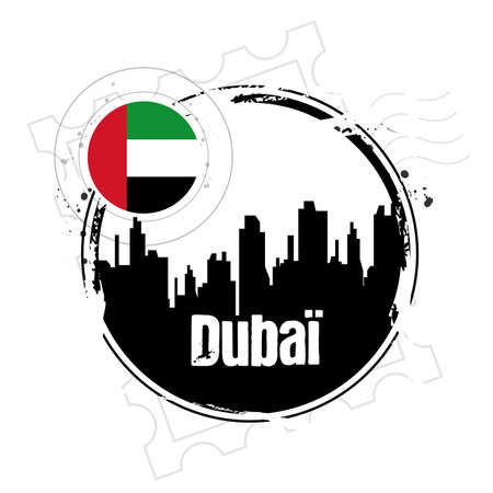 dubai flag: Sello Dubai