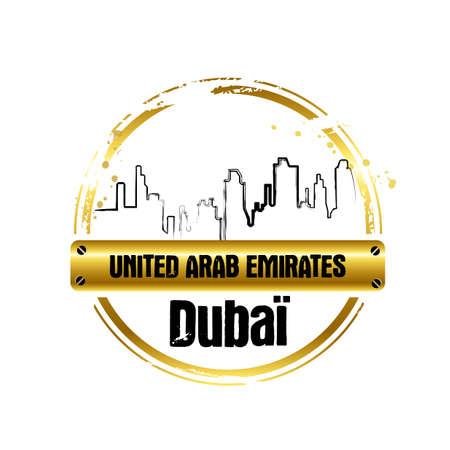 stamp Dubai Vector