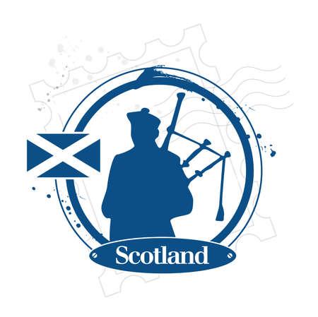 scottish flag: timbro Scozia Vettoriali