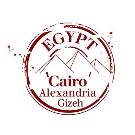stamp Egypt Stock Vector - 17280806