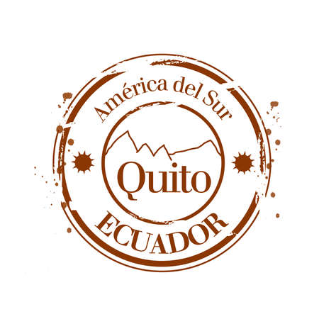stamp Quito Stock Vector - 17280809