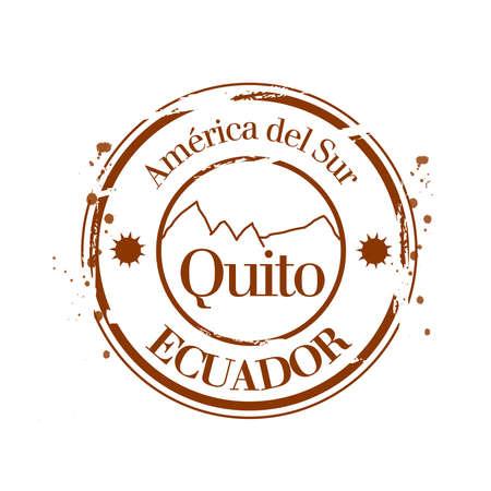 quito: stamp Quito Illustration