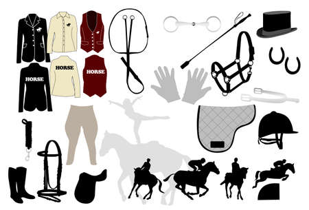Set for Equestrianism Vector