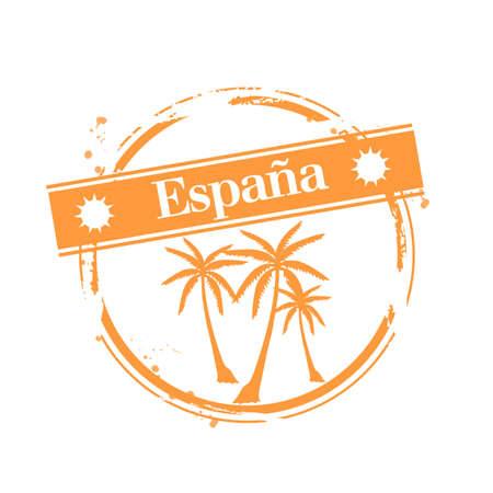 stamp Spain Stock Vector - 17280826