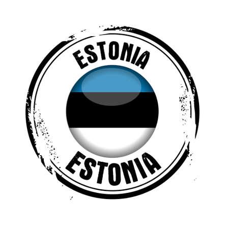 stamp Estonia Stock Vector - 17280830