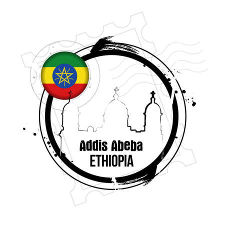 stamp Addis Abeba Vector
