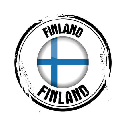 stamp Finland Stock Vector - 17280692