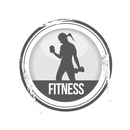 muscle training: sello Gimnasio Vectores