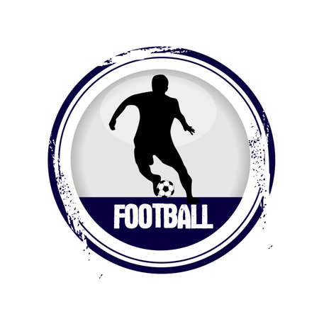 stamp Football Vector