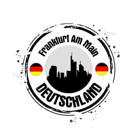stamp Frankfurt am Main Stock Vector - 17280844