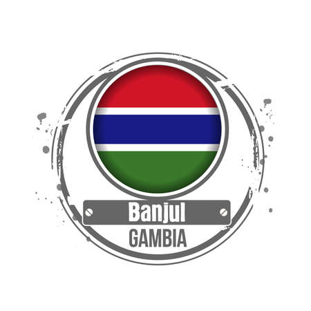 stamp Gambia Stock Vector - 17320583