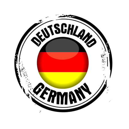 stamp Germany Vector