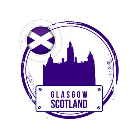 glasgow: stamp Glasgow Illustration