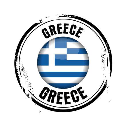 stamp Greece Stock Vector - 17320817