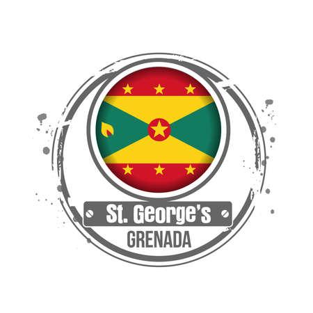 stamp Grenada Stock Vector - 17320703