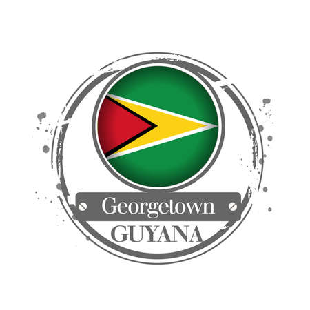 georgetown: stamp Guyana Illustration