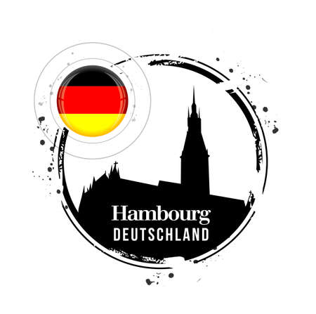 stamp Hambourg Stock Vector - 17320689