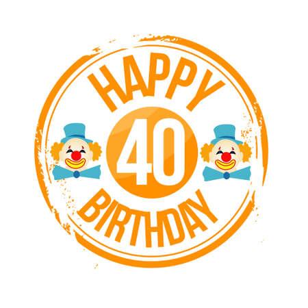 stamp Happy Birthday Stock Vector - 17320569