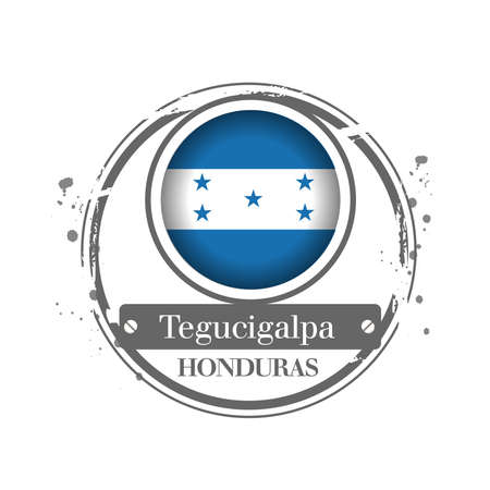 stamp Honduras Stock Vector - 17320576