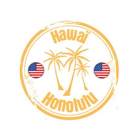stamp Honolulu Stock Vector - 17320826