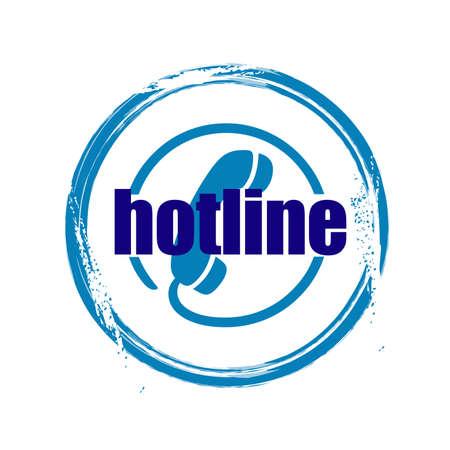 hotline: stamp Hotline Illustration