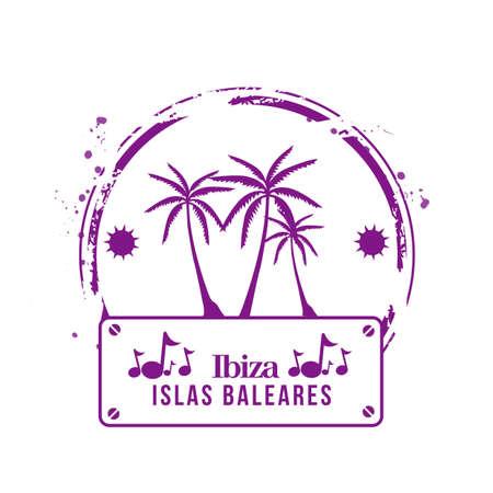 ibiza: stamp Ibiza Illustration