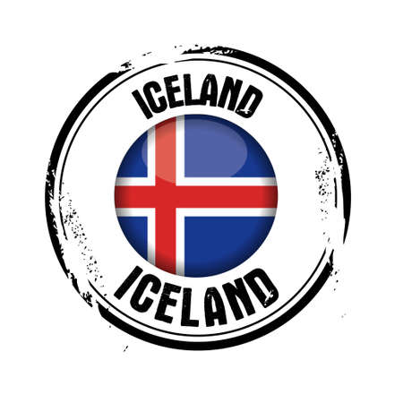 stamp Iceland Vector