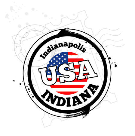stamp Indianapolis Stock Vector - 17320701