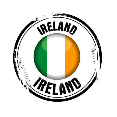 stamp Ireland Vector