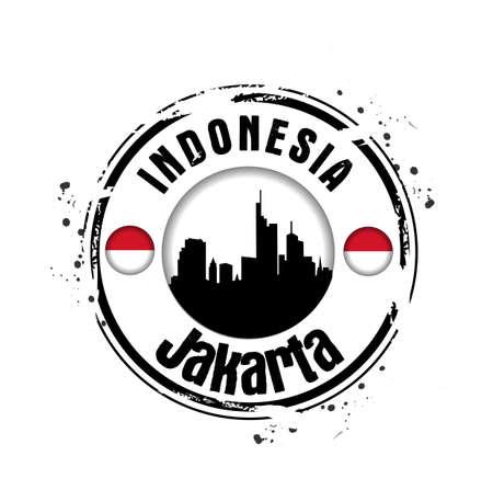 stamp Jakarta Stock Vector - 17320820