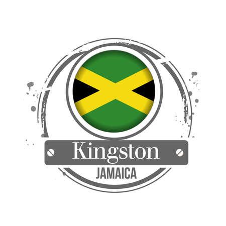 jamaican: stamp Jamaica Illustration