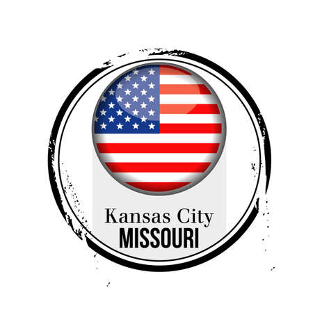 stamp Kansas City Stock Vector - 17320873