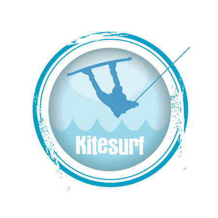 kitesurfen: stempel Kitesurf
