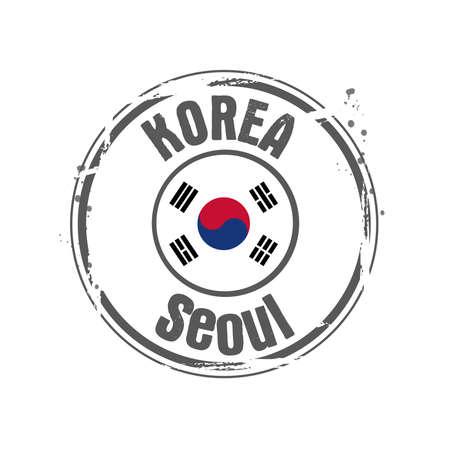 stamp Korea Stock Vector - 17320929