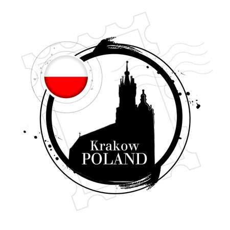 krakow: stamp Krakow Illustration