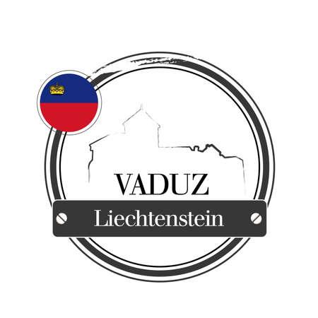 stamp Vaduz Stock Vector - 17320882