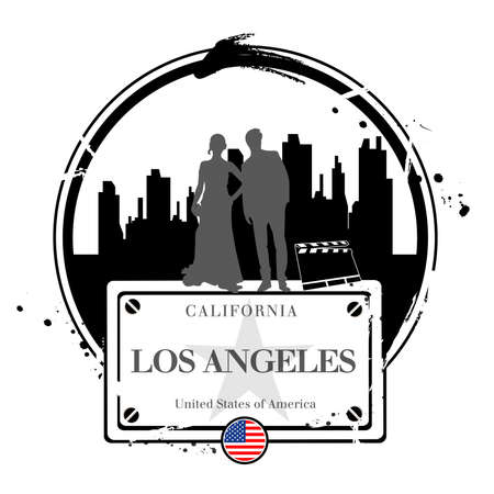 stamp Los Angeles Stock Vector - 17320920