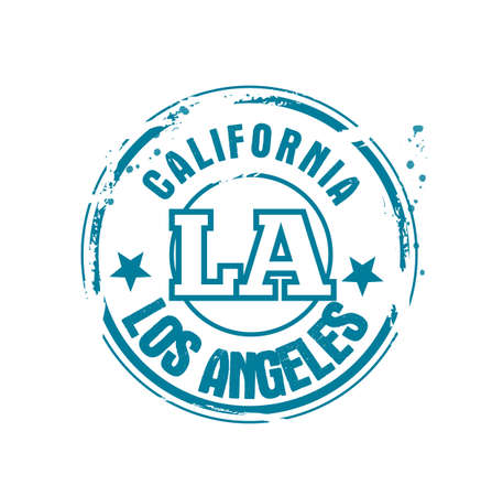 stamp Los Angeles Vector