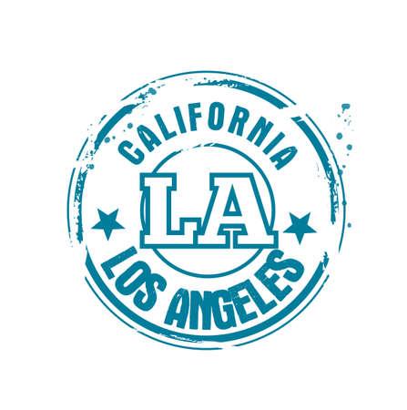 angeles: stamp Los Angeles