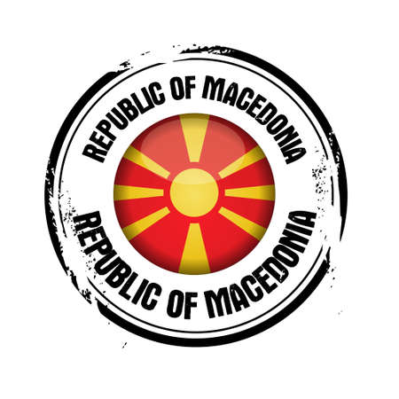 macedonia: stamp Macedonia Illustration