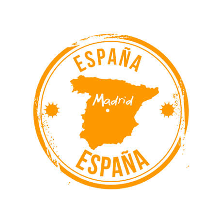 stamp Madrid Illustration
